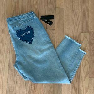 Bebe ankle light blue jeans w22